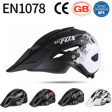 Riding Helmet Road-Bike FOX Mountain-Bicycle Cool Big Brim Tail-Light-Bat MTB with Safety