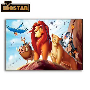 New 3D Diamond Painting Cross Stitch Forest King Lion Crystal Needle Diamond Embroidered Diamond Mosaic Decoration image