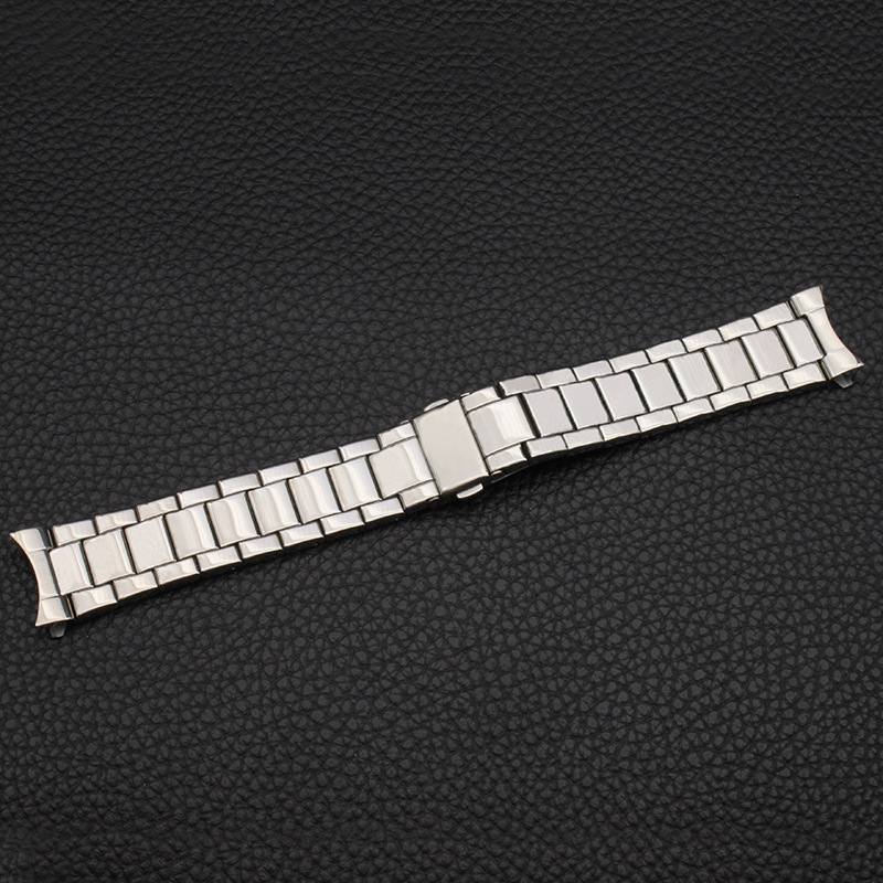 Watch Accessories Watch Band Stainless Steel Watch Band Clean Steel Bracelets MEN'S Watch with 20 Mm Boud Edage Belt Arc Mouth W