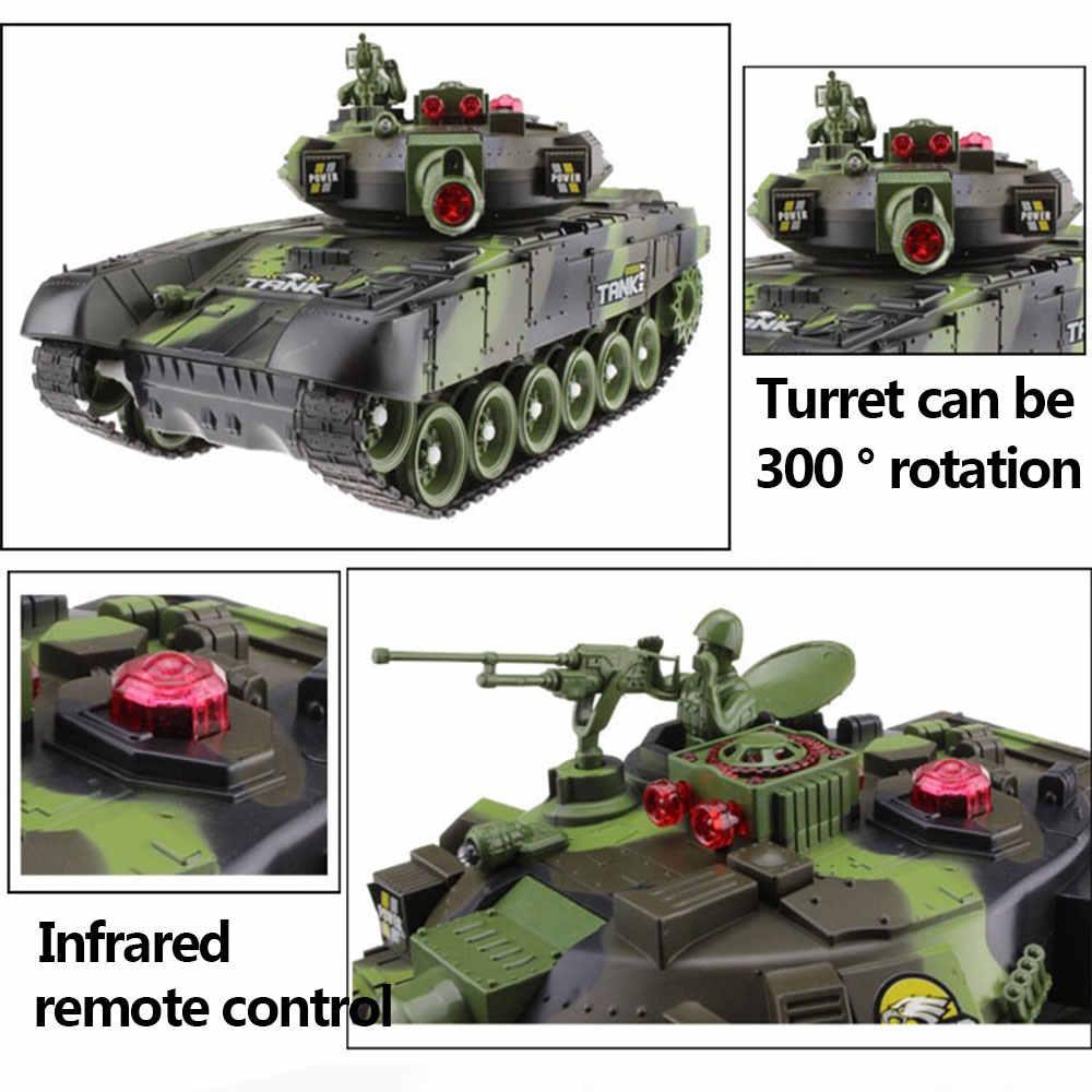 33/44 Cm Rc Oorlog Tank Radio Tactische Voertuig Main Battle Militaire Gevechtstank Model Geluid Terugslag Elektronische hobby Jongen Speelgoed