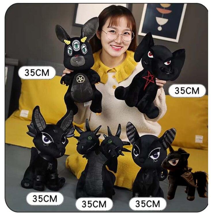 2020 New Arrival Fishion Stuffed Animal   Doll Plush  Black Pentacle Elephant Hydra Anubis Rabbit Toys  For Chrismast Birthday G