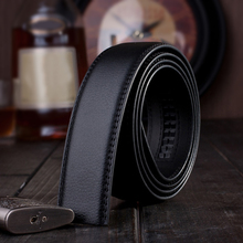 2 PCS Fashion Mens Automatic Slide Leather Belt Ratchet Strap Classice Vintage