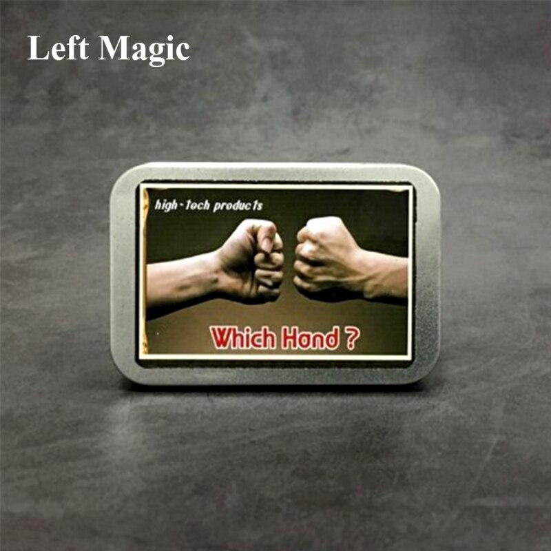 Quelle main (sixième sens 3)-tours de magie magicien devinez main pièce de monnaie Magia gros plan rue parti Illusion Prop Mental