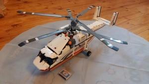 Image 5 - Neue MOC Power Funktion Hubschrauber Fit Technic Stadt Modell Bricks Building Block Junge DIY Spielzeug Kind Geschenk Geburtstag Jungen 9396 42052