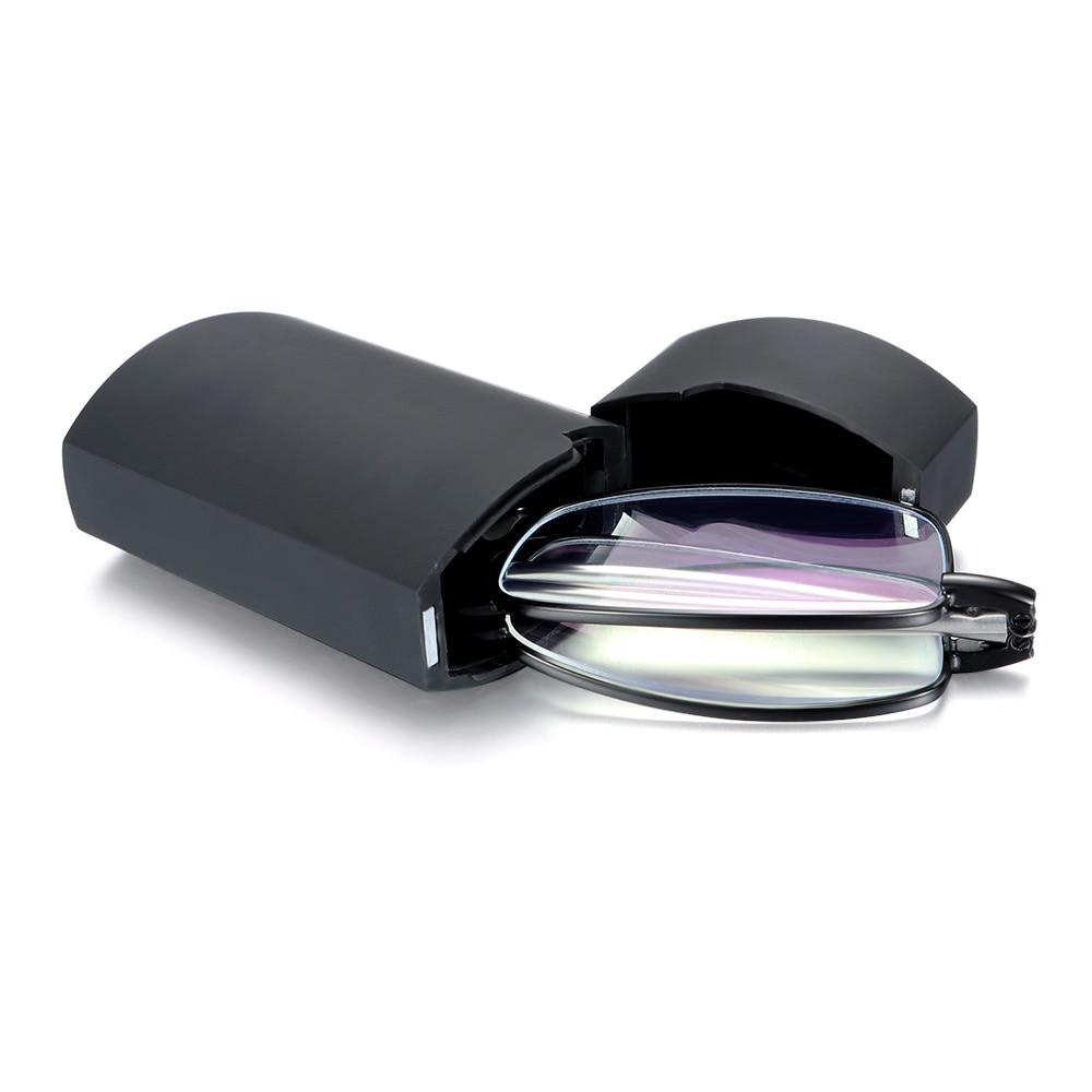 Hot Folding Reading Glasses Eyeglass With Case Women Men Blue Light Blocking Reading Magnifying Presbyopic Glasses +1.00~+4.00