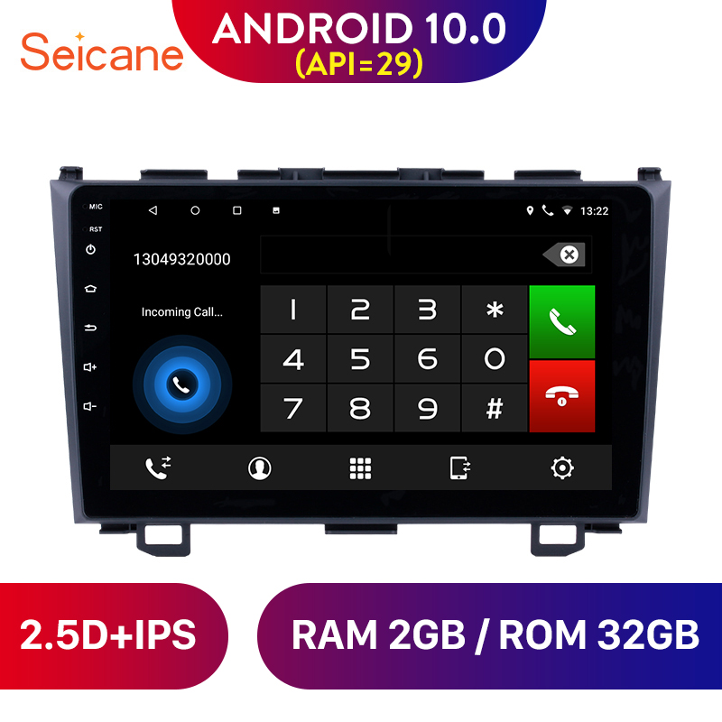 Seicane 9 Android 10.0 IPS car radio GPS Navigation tape recorder for 2006 2007 2008 2009-2011 Honda CRV 1080P support OBD2 image
