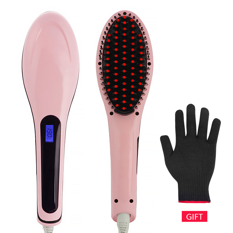 New Hair Straightener Brush Hair Electric Brush Comb Irons Straight Hair Comb Brush Hair Straightener Curler Styling Tool