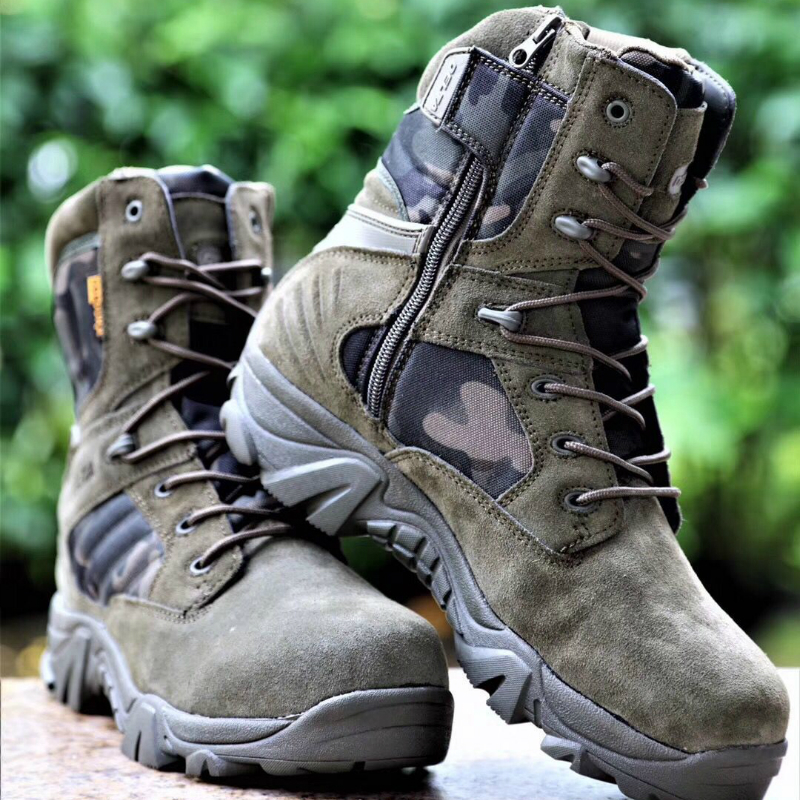 Winter Outdoor Men Hiking Shoes Breathable Tactical Combat Army Boot Desert Training Sneaker Size 39-47 Anti-Slip Trekking Shoes
