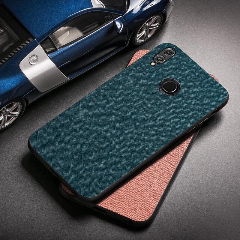 Honneur 8X Max cas Silicon Tissu Tissu Protection pare-chocs pour Huawei Honor 9X 8A 8C 7A 7C 7S Pro 9 Play 3 Note Voir 10 20 V30 Couverture