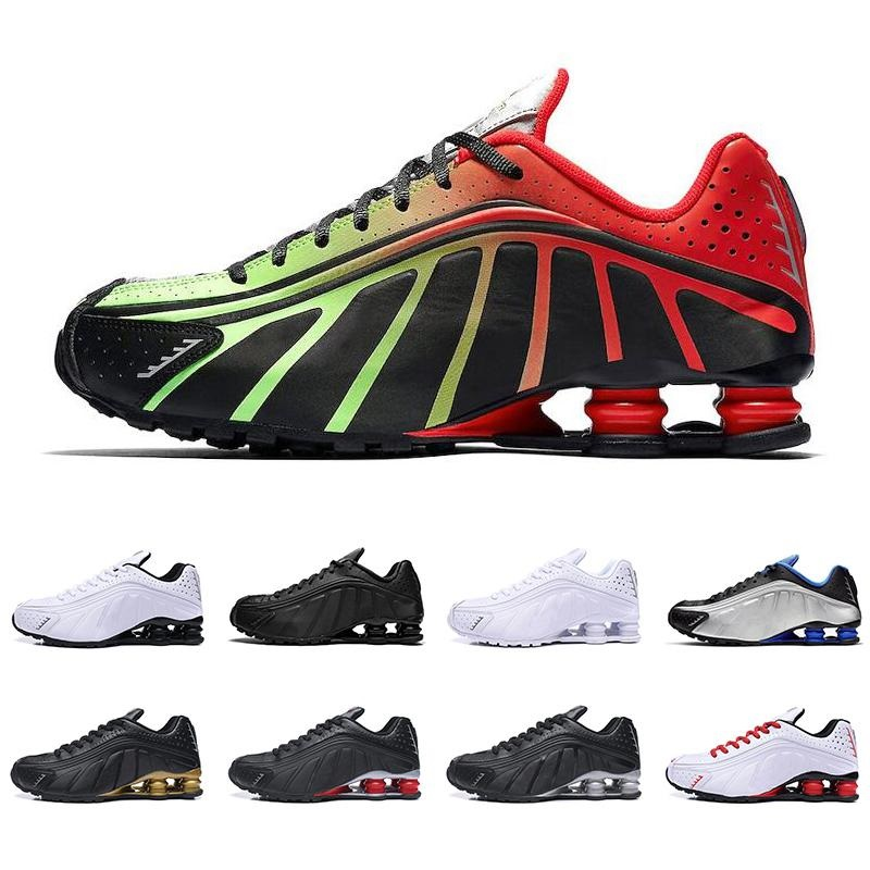New Arrival Shox R4 Casual Shoes Men Dynamic Yellow Black Metallic OG Racer Challenge Red Trainers Designer Sneakers EUR 36-45