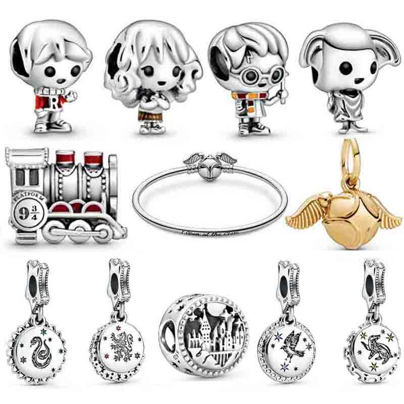 PDB Original 925 Sterling Silver Magic School Charm Beads Bracelet Fashion Personality Woman Jewelry Gift Free Shipping