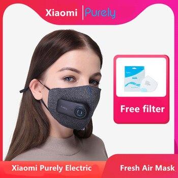 Xiaomi-mascarilla deportiva, totalmente anticontaminación con filtro recargable PM2.5 de 550mAh y estructura tridimensional, excelente purificación