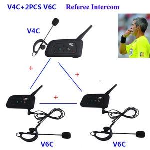 Image 1 - 3 Riders Talking  1200m full Duplex Communication Headset  For Football Referee Judge Biker Wireless BT Intercom