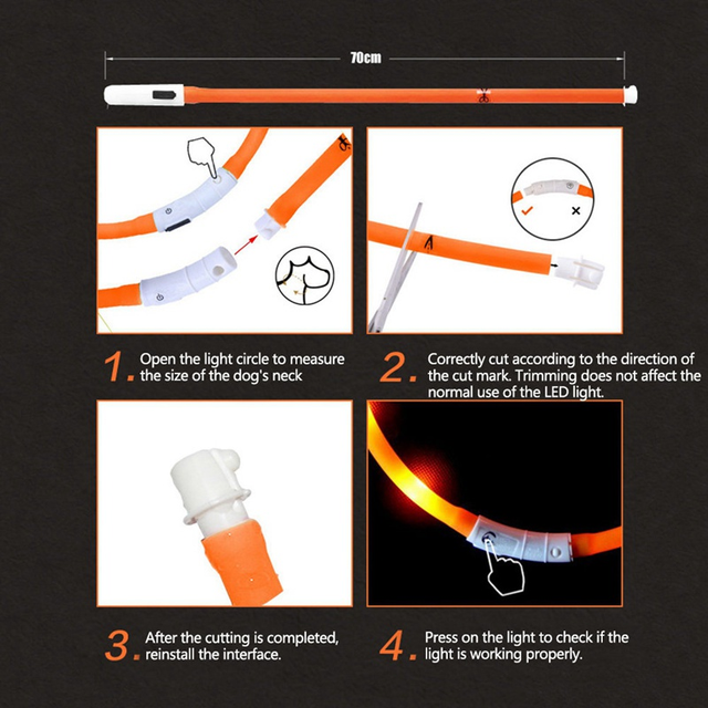 USB LED Dog Collar  4