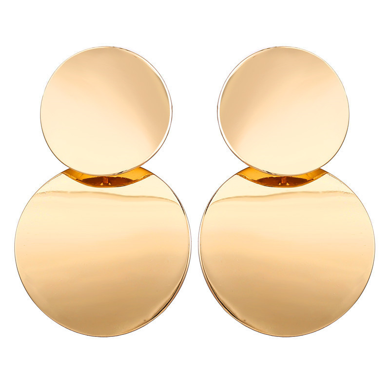 Hdaceb9f80508447b859932e4c7eb4ebeT - Hot Sale Gold Drop Earrings Jewelry Earrings For Women C Shaped Round Geometric Earring Female Fashion Jewelry Gifts