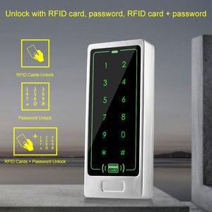 Image 2 - RFID Cửa Điều Khiển Truy Cập Hệ Thống Bộ Cảm Ứng Kim Loại Bàn Phím + Đầu Nguồn điện + Tặng Ổ Khóa Điện Tử Điện Từ Đình Công Chốt Khóa