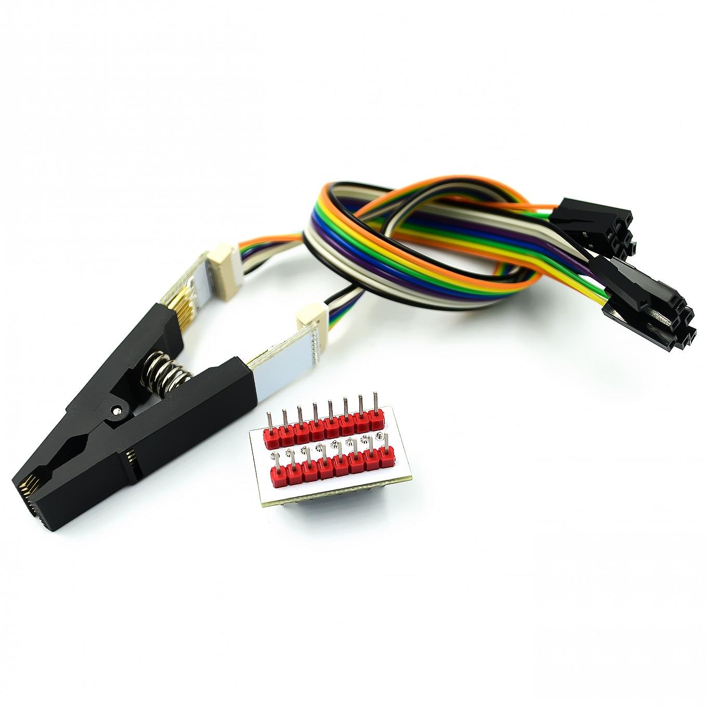 SOIC 8 SOP8 a tomas de adaptador de programador DIP8 EZ convertidores módulo 200mil//209mil
