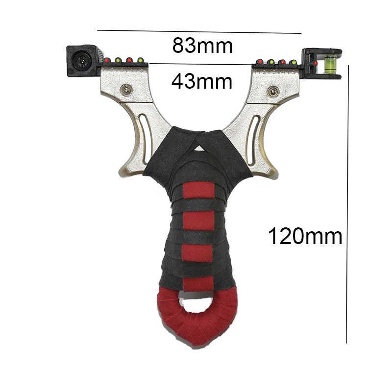 Fionda in resina per caccia catapulta elastico piatto fionde per mirino Laser ad alta precisione all'aperto