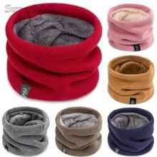 Модный зимний шарф для женщин, детский шарф для мальчика, девочки уплотненная шерсть шарфы-снуды, шарф женский, хлопок, унисекс, Прямая поставка