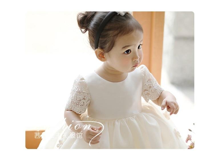 bebe recem nascido meninas flor vestido de 05