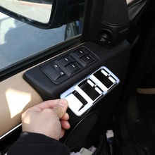 Für Land Rover Range Rover Sport L320 2005 2008 ABS Silber/Schwarz Auto Fensterheber Schalter Taste Abdeckung aufkleber Auto Zubehör