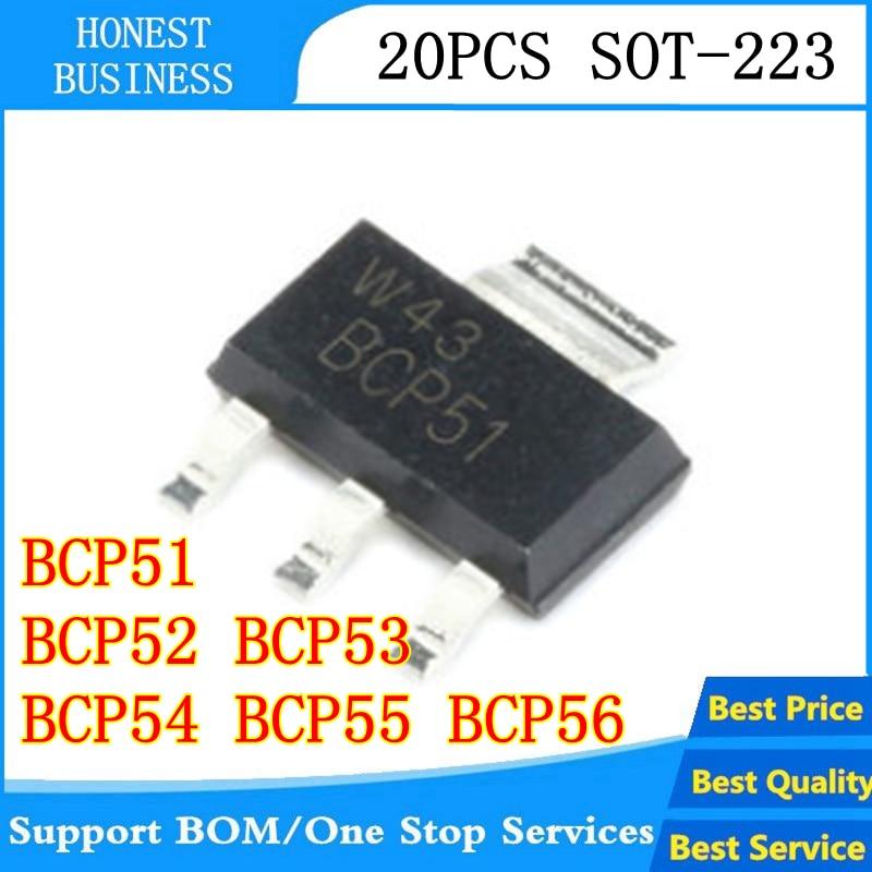 20PCS BCP51 BCP52 BCP53 BCP54 BCP55 BCP56-16 SOT-223 NEW