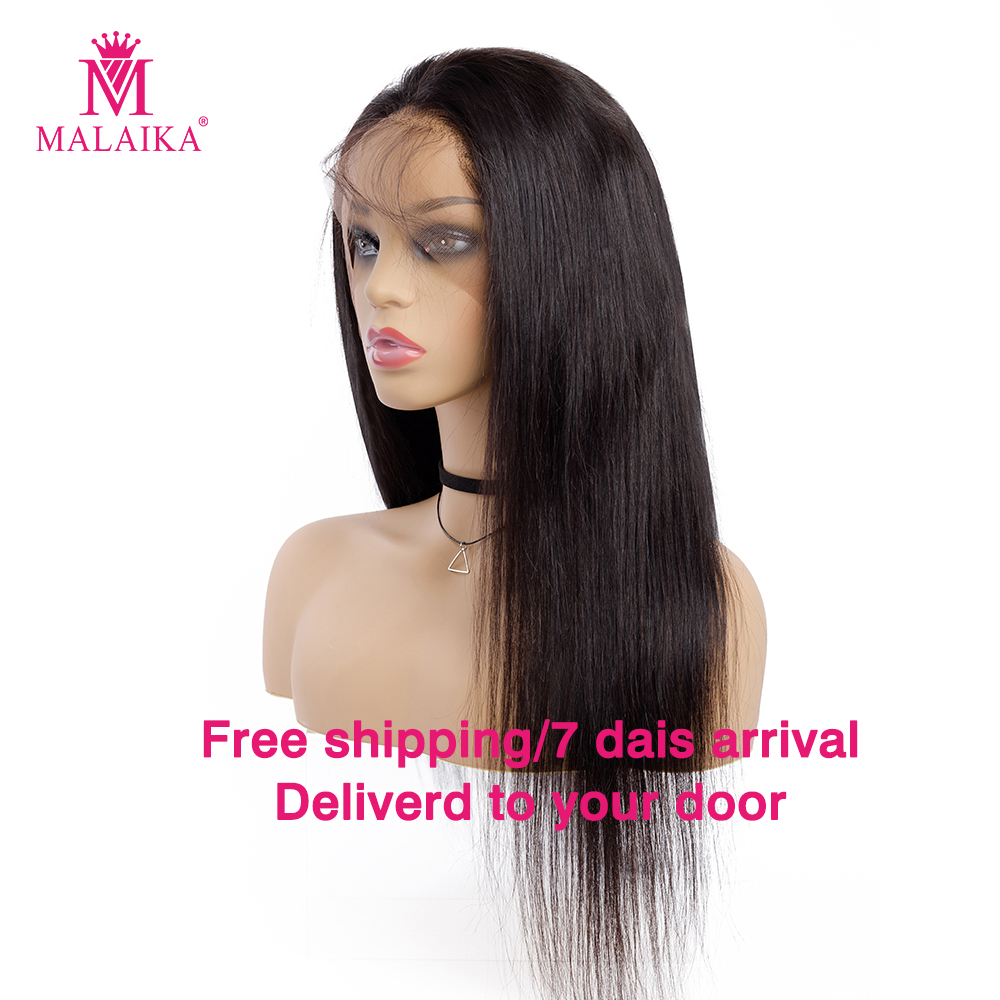 MALAIKA Free Shipping Lace Frontal Wig With Straight Lace Front Human Hair Wigs For Women 130 Density Brazilian Wig