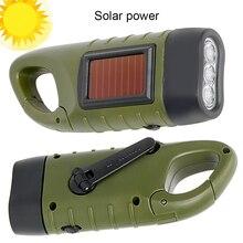 Портативный светодиодный фонарик, Ручной Динамо фонарик, профессиональный Солнечный свет силовая палатка для наружного кемпинга, альпинизма