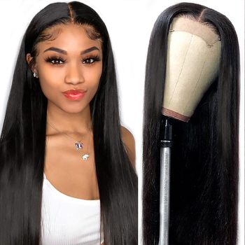 4x4 Lace Closure Wig Brazilian Human Hair Wigs13x4 Front 360 Frontal Wigs For Black Women With Baby Beauhair - discount item  53% OFF Human Wigs( For Black)