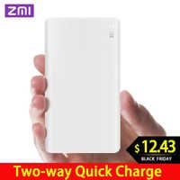 ZMI 5000 mAh Banco de la energía 5000 mAh batería externa portátil de carga de dos vías de carga rápida 2,0 para iPhone