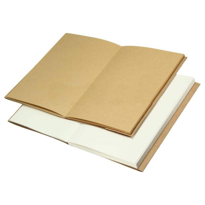 32K Hard Back Art Notebook Sketch Book Blank Paper Kraft Sketching Paper Diary