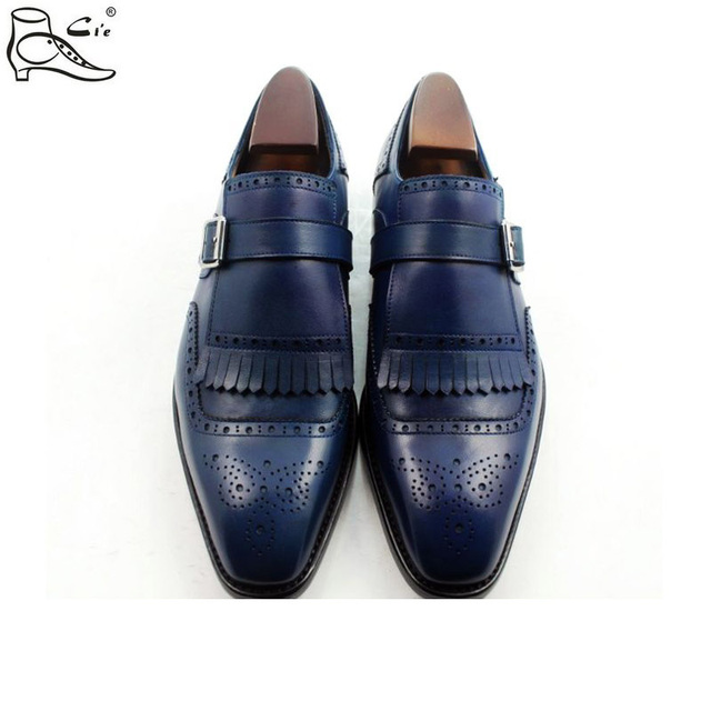 Ci'e – Brogues tassels loafer with buckle, full grain calf leather handmade men's shoe