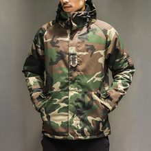 Winter Jacket Men Military Parkas Coat Male Jacket Men Thick Outwear Nylon Camouflage Hooded Down Jacket Plus Size Print Zipper(China)