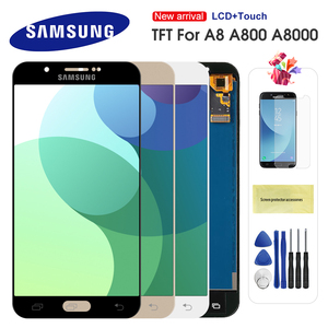 For Samsung Galaxy A8 2015 A800 lcd display A8000 SM-A800F LCD Display Touch Screen Adjustable Brightness Digitizer Assembly(China)