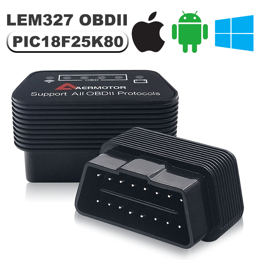 PIC18F25K80 V1 5 OBD2 Scanner For iPhone iOS Android WIFI Bluetooth ELM327 Car Diagnostic Tools For Honda Nissan Mitsubishi KIA