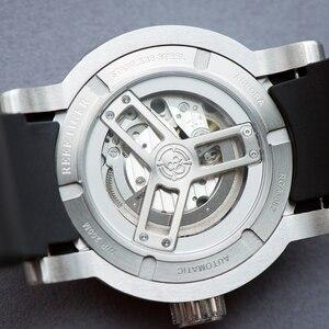 Image 5 - 2020 novo design reef tiger/rt luxo relógio esporte dos homens à prova dwaterproof água 100 m relógios mecânicos pulseira de borracha aço rga30s7