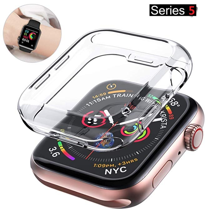 Ultra-Thin Cover For Apple Watch Series 4/5 Case 44mm 40mm All-Around Screen Protector For IWatch Series 3/2 42mm 38mm Shell