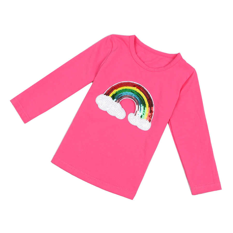 Kids Toddler Girls Cotton Tops T-shirt Casual Bottoming Shirt Blouse Age 3~8Y