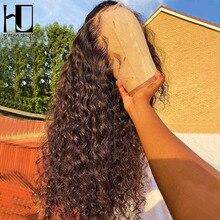 30 34 pulgadas onda profunda 13x4 13x6 Frontal pelucas de cabello humano Pre arrancado brasileño 5x5x5 de cierre de encaje suelto rizado Peluca de mujer negro
