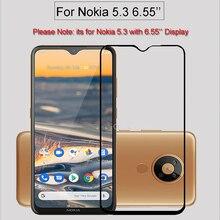 Full Glue Full Cover High aluminum Tempered Glass For Nokia