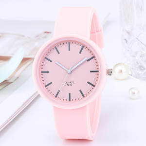 Women's Watches Clock Gifts Ins-Trend Korean New-Fashion Silicone Mujer Reloj for Candy-Color