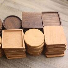 Gran oferta de madera cuadrado beber estera de la taza de café o té Pad resistente al calor de posavasos de calidad casa manteles decoración del producto