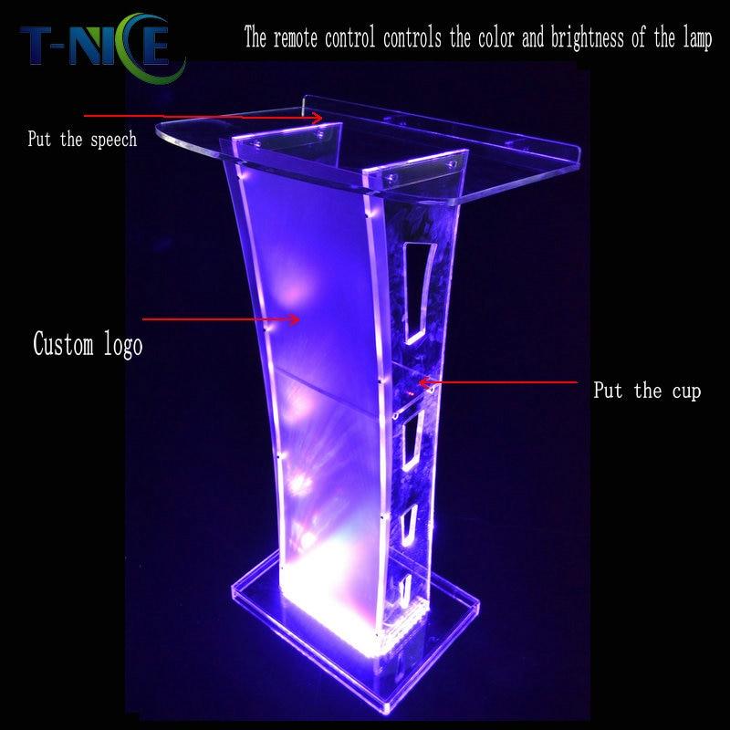 2020 Custom Acrylic Podium Church Pulpit Plastic Lectern Pulpito De Iglesia School Furniture Clear Desk AKLIKE