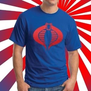 Gi Joe Cobras Blue T-Shirt High Quality Screen Print S-3Xl(China)