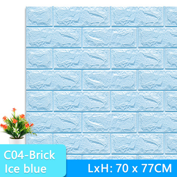 3D Wall Stickers Marble Brick Peel and Self-Adhesive Wall paper Waterproof DIY Kitchen Bathroom Home Wall Decal Sticker Vinyl 7