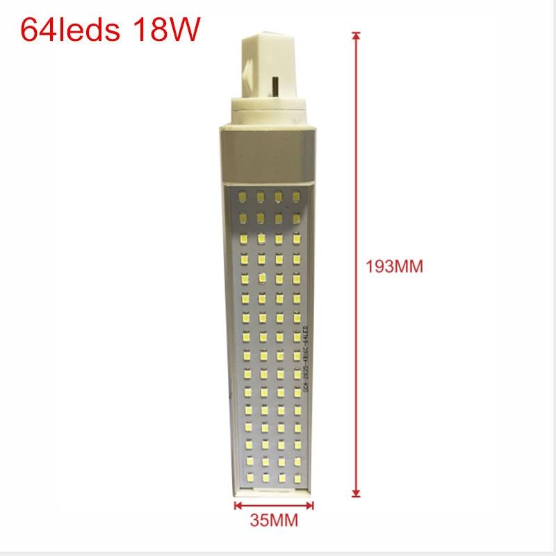 G24 64leds size 18W