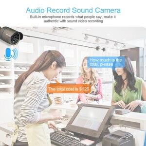 Image 3 - Techage 8CH bezprzewodowy System CCTV Audio 1080P 4 sztuk 2MP kamery CCTV kamera zewnętrzna zabezpieczenia ip System wideo zestaw do nadzorowania