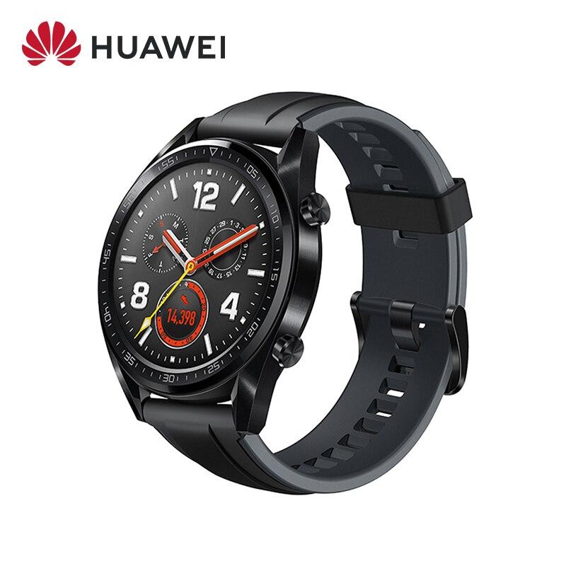 Version mondiale Huawei montre GT montre intelligente GPS NFC 14 jours d'autonomie 5 ATM étanche appel téléphonique fréquence cardiaque pour Huawei P30