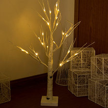 LED gümüş huş ağacı dal ağaç ışıkları sıcak beyaz ışıklar beyaz şube noel ev partisi düğün C66