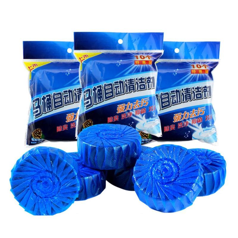 10PCS/Set Blue Toilet Dirt-removal Cleaner Detergent Deodorant Cean Bubble Cleaner Toilet Bathroom Cleaner Toilet R9X8